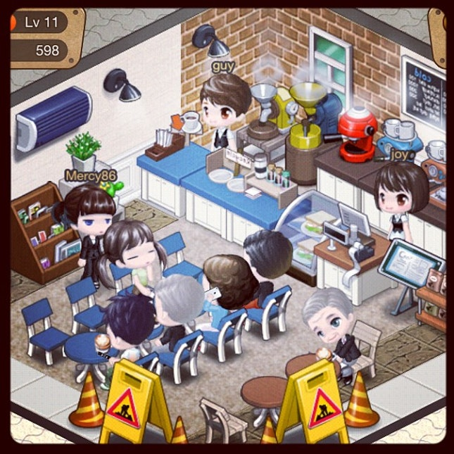 My little #cafe #ilovecoffee #apps #cute #decors #instamood