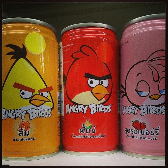 #angrybird #cans #drink #beverage #foodporn #cute