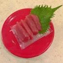 Maguro Sashimi #maguro #sashimi #tuna #raw #ice #pack #leave #decoration #red #plate #sakaesushi #japan #cuisine #food #foodpic #foodporn #instapic #instatag #instafood #singapore #igfame #iphone5c #nofilter
