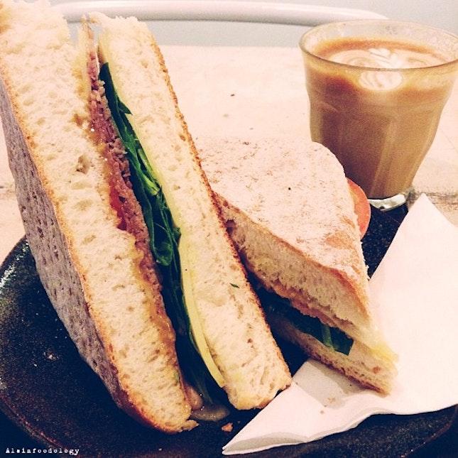 Roast Beef Thick Toast Sandwich