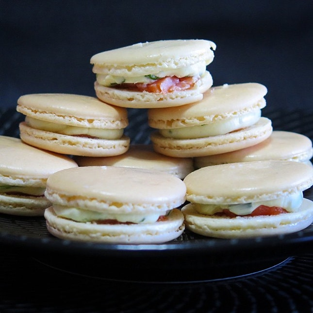 Smoked Salmon Macarons (Home-Baked)