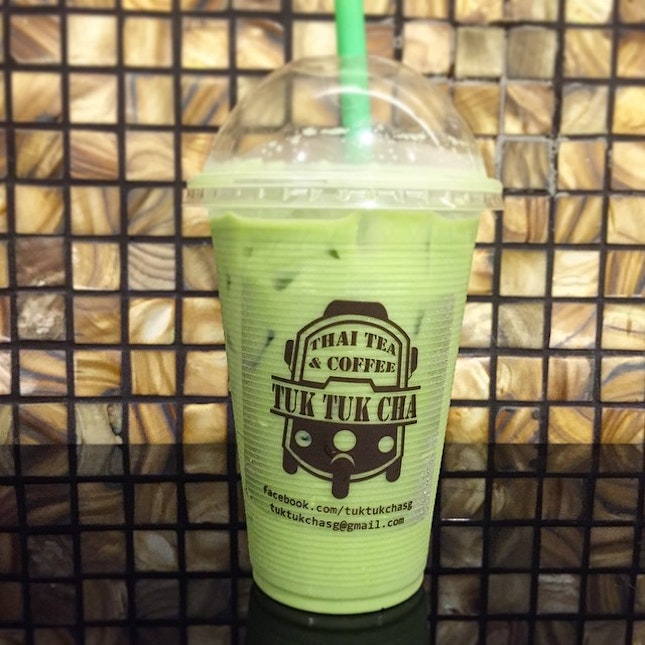 A little Bangkok prelude to my upcoming trip with the Thai Green Milk Tea from Tuk Tuk Cha at Suntec City Mall.