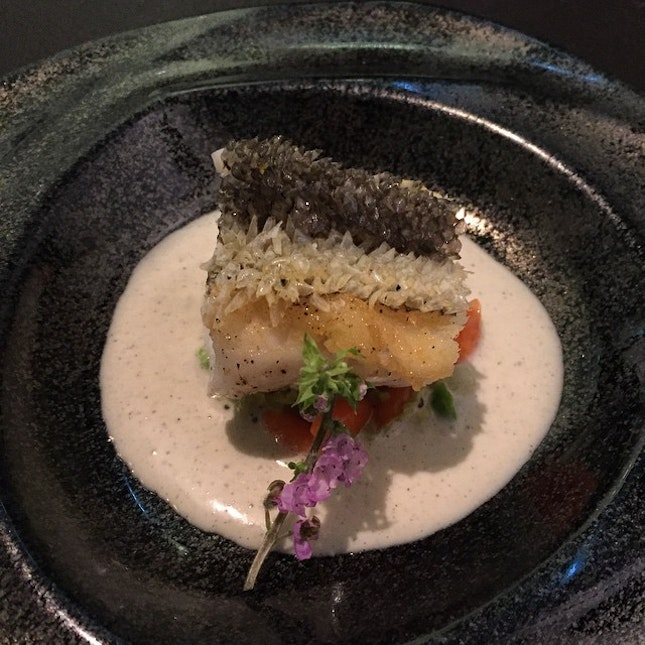 Nz cod with Crispy fish scales #burpple #cornerhouse