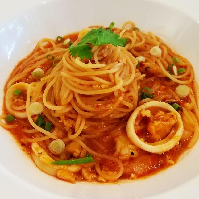 Chilli Crab Pasta ($15++)