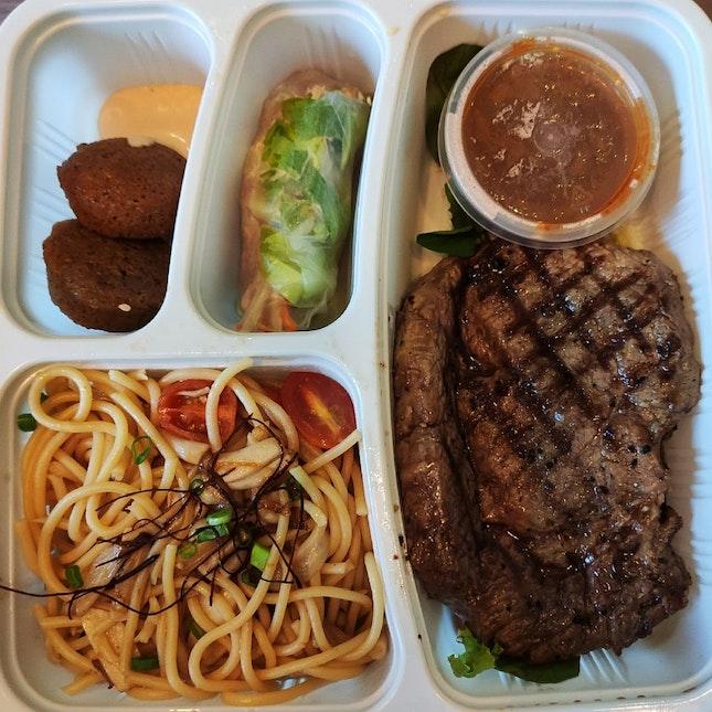 Beef Bento Box ($24.80+10% Svc)