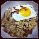 Homecooked #friedrice with #sunny side up. #foodporn