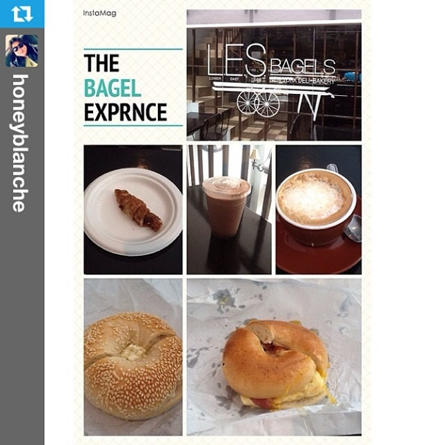 #Repost from @honeyblanche with @repostapp --- #bagel #breakfast with @hazelbeverly08