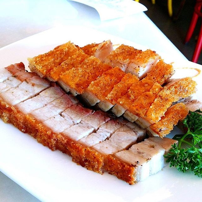 Roasted Pork, where the skin is so crispy and the fats melt in your mouth!!