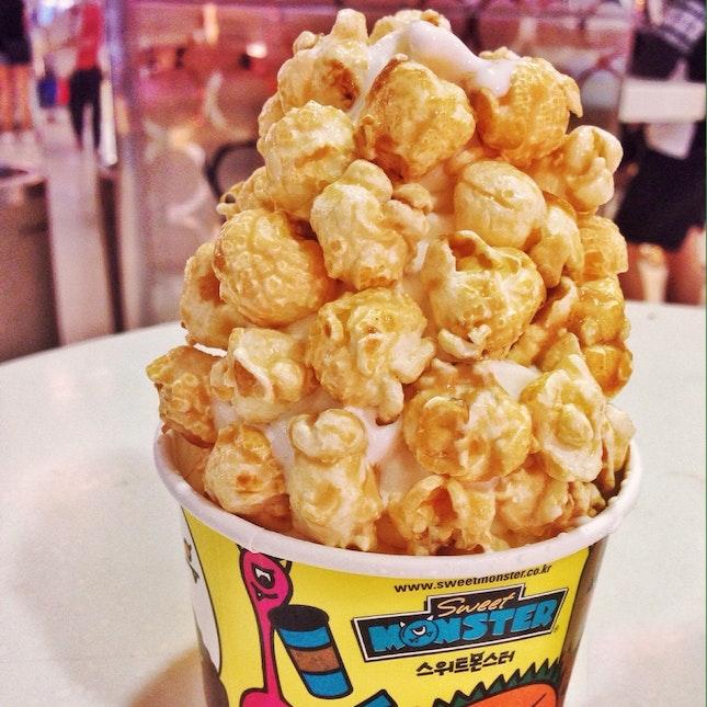 Milk Popcorn Soft Serve [$6.80]