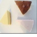 Mango, Strawberry & Chocolate Cheesecake