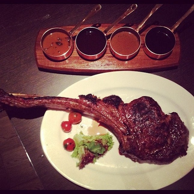 Check out the 70 day grain fed Aussie Black Angus Tomahawk at tonight's tasting!