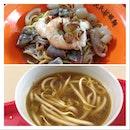 Intestines Prawn Noodles With Pig Skin