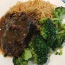 Braised Beef Cheek With Spaghetti