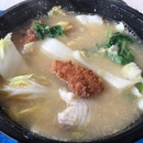 Fried And White Fish Slices Soup