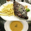 A #generous and #affordable  #setmeal consisting of #soupoftheday , #maincourse and #drink that was also #verygood in #taste.