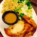 Roasted Chicken With Salads