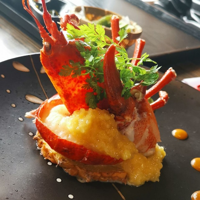 Lobster With Pineapple Puree