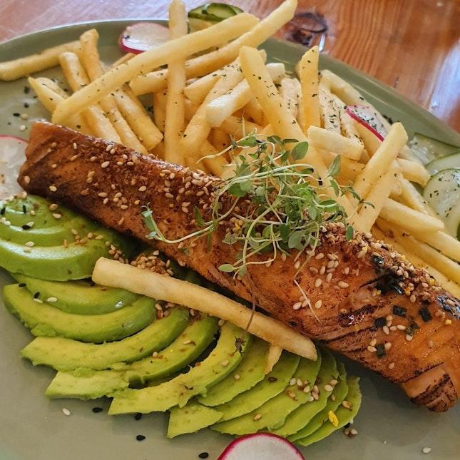 Miso Salmon With Avocado