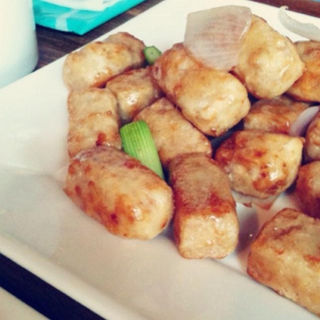 Honey Coated Fried Yam