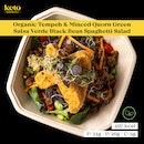 Organic Tempeh And Minced Quorn Green Salsa Verde Black Bean Spaghetti Salad