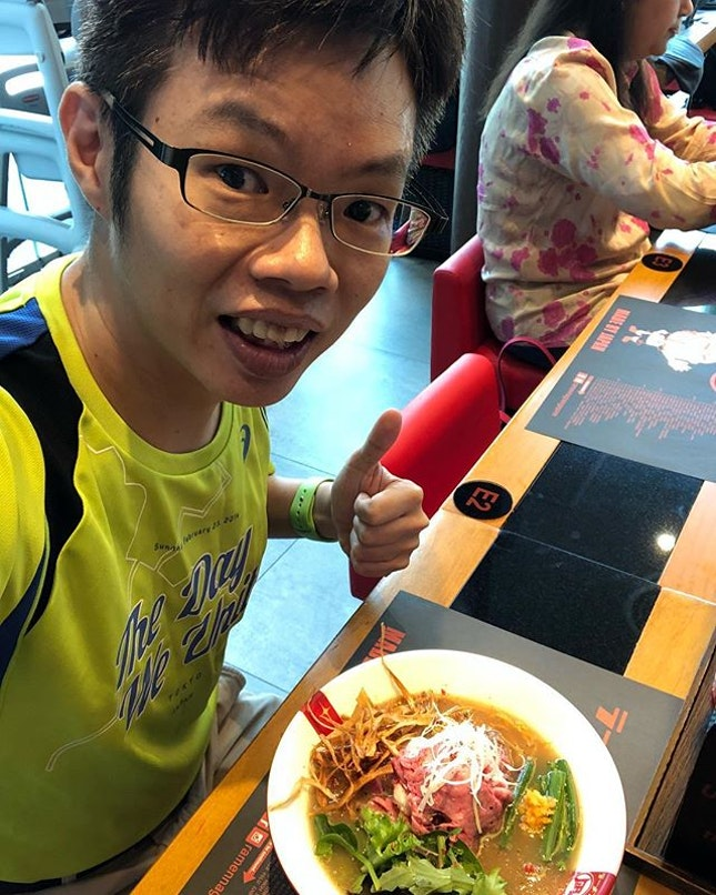 Had an enjoyable Wagyu Beef 🥩 ramen 🍜 as my #lunch.