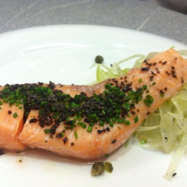 Salmon Confit With Fennel & Apple Salad