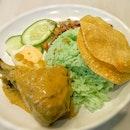 Nasi Lemak Curry Drumstick