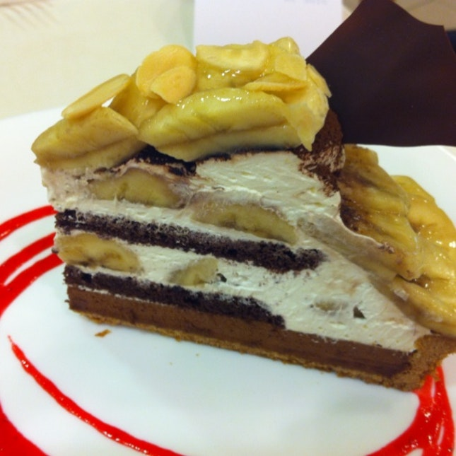 Choco Banana Tart. Reminds Me Of Banoffee Pie Minus The Toffee.