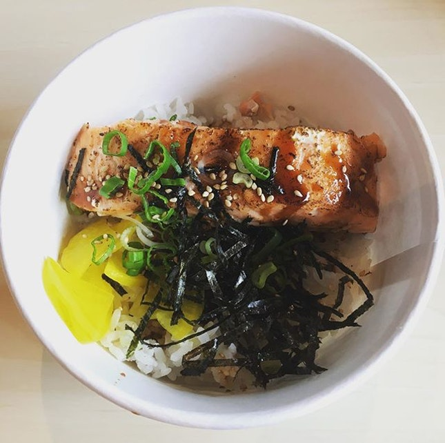Salmon Teriyaki Don ($13).