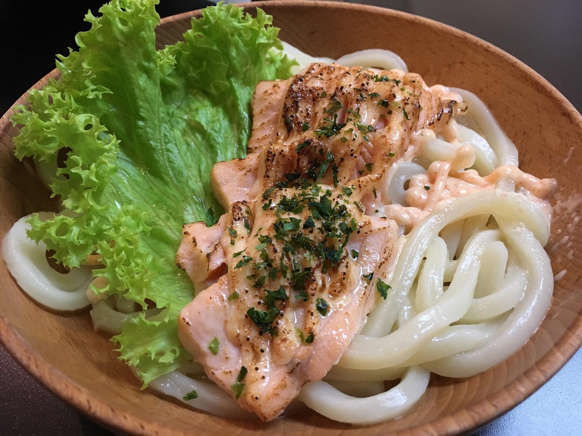 Salmon Mentaiko Udon