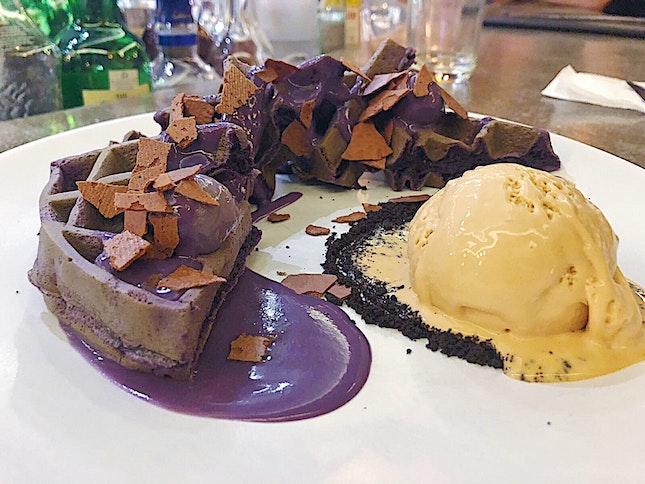 Taro Waffles ($14.90)