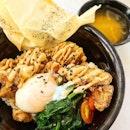 Chicken Karaage with Tonkotsu Mayo Bowl ($4.90).
