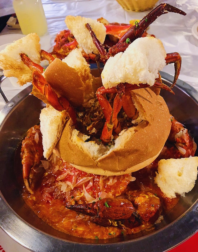 Chili Crab Bread Bowl ($97)