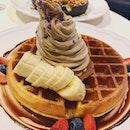 Houjicha Soft Serve On Waffles ($14), Isabelle Waffles ($16.50).