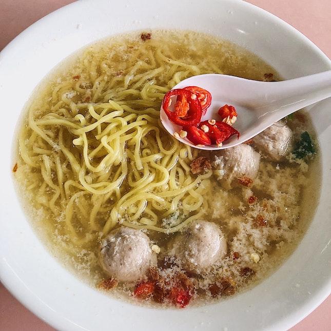 Bak Chor Mee Soup ($3).