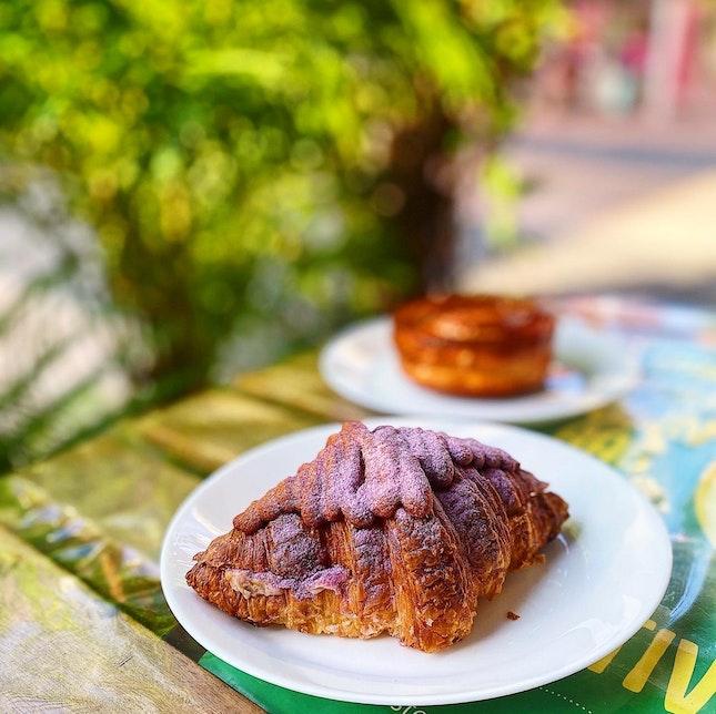 Taro Mochi Double-baker Croissant ($7.80).