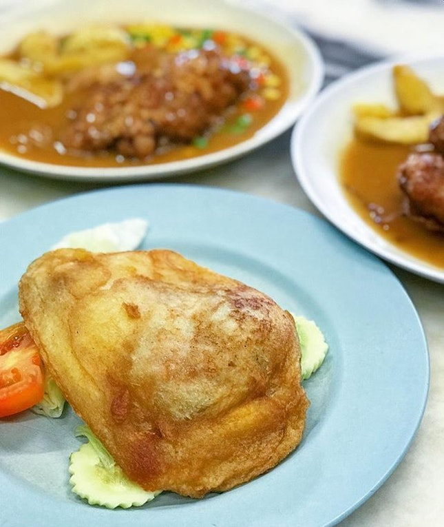 Deep-fried bread sandwiched with pork...what's not to love?