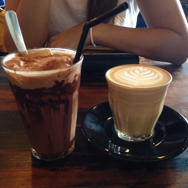 Latte and Iced Mocha