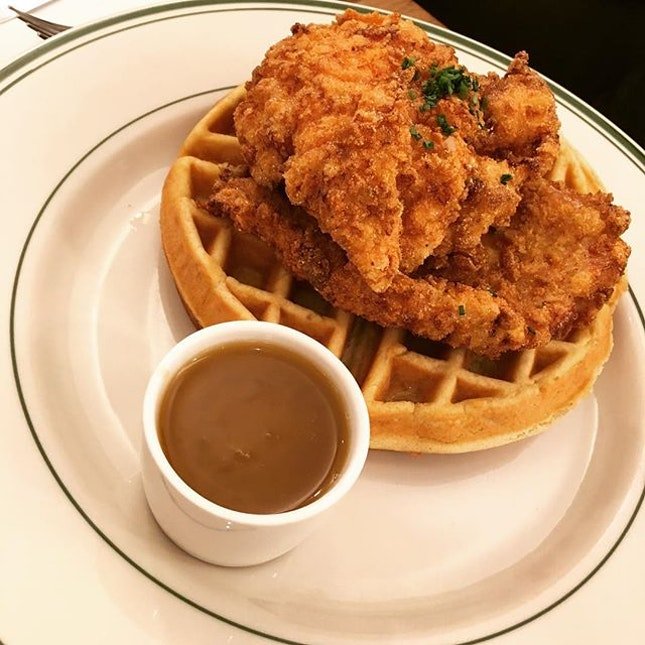 Who says Fried Chicken and Waffles don't go well together?