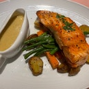 Grilled Salmon and Roasted Potatoes ($29++)