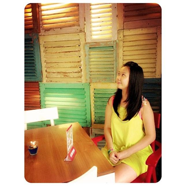 Saturday 😘 #selfca #cafe #neon #window #potd #ootd