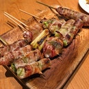 And they all took turns to melt in ma mouth 😛 #AATeats #japanese #yakitori #burpple