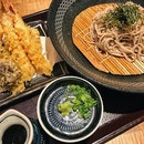 I wish my butt bloated like my stomach does 😒 #AATeats #japanesefood #soba #tempura #burpple