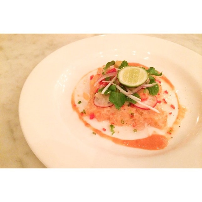 Oh yum, this snapper ceviche.