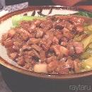肥汁汁一碗不錯吃的滷肉飯。