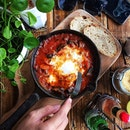 #AnythingAlsoEat - Baked Eggs with Mushrooms, Chorizo and Buffalo Mozarella ~•~•~•~•~ Backlane Coffee was one of the best spots I've visited in Melaka.