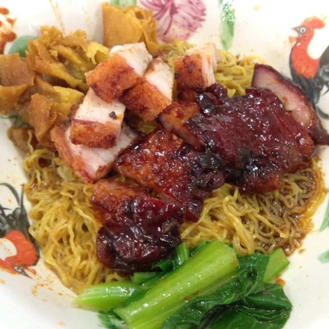 """""""Char Siew"""" noodles @ 潘记传统火炭烤鸭"""