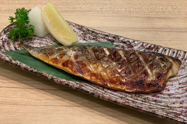 Saba Shioyaki (Grilled mackerel with salt)