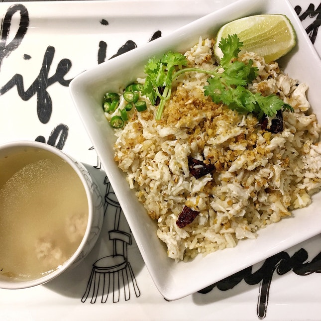 Crab Meat Fried Rice with a Twist ($28)