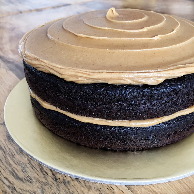 For Seriously Underrated Peanut Butter Chocolate Cake